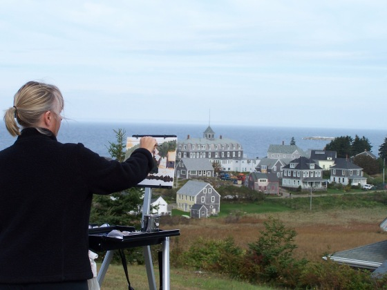 Me painting on Monhegan, Maine