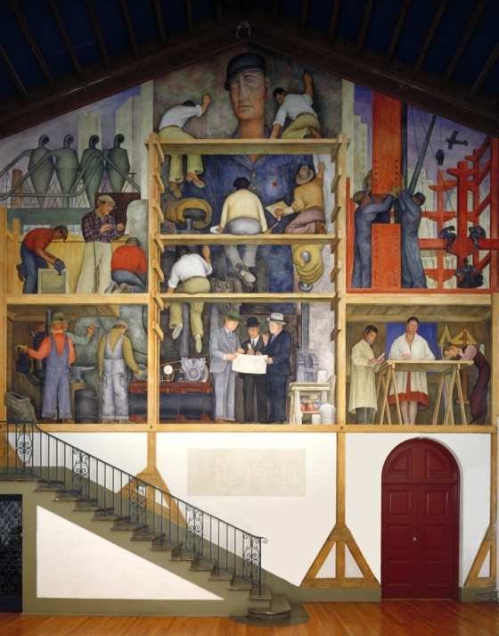 Diegorivera makingofafresco mam for Diego rivera mural san francisco