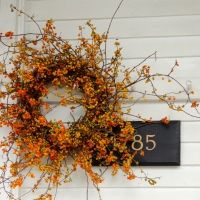 Fall is in the air... and on the door!