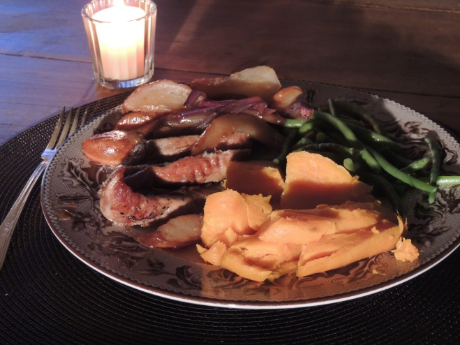 Pork Tenderloin with Pear and Onions
