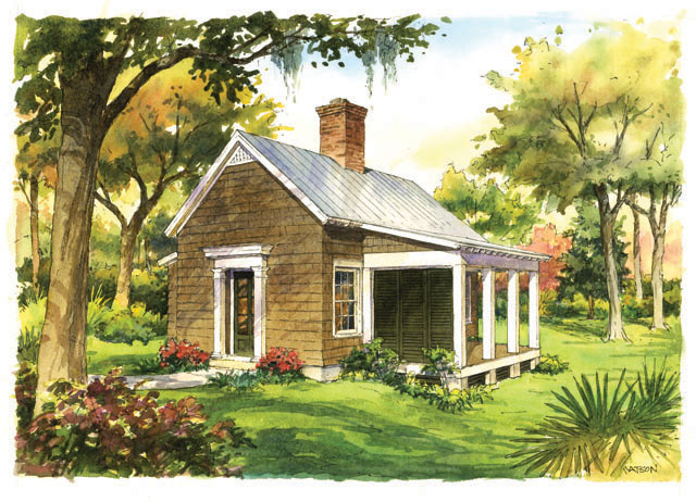 House plan thursday southern living plan of the month for Backyard cottage floor plans