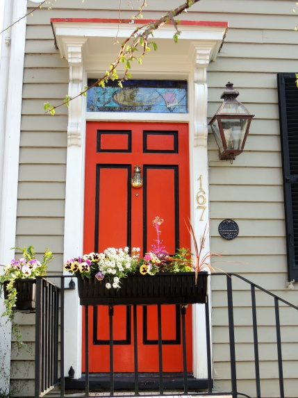Bright and bold door