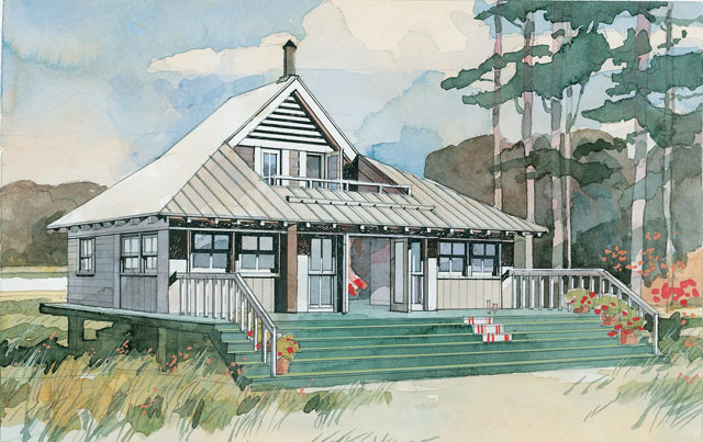 House plan thursday the beach bungalow plan for Coastal beach house plans