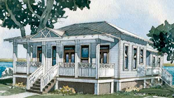 Southern Living House Plans   ArtFoodHome comInlet Cottage  SL   An Exclusive Design for Southern Living by K Urban Design