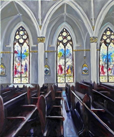 """St. John the Baptist"" by Bridget Jennings [bridgetjenningsartist.com]"
