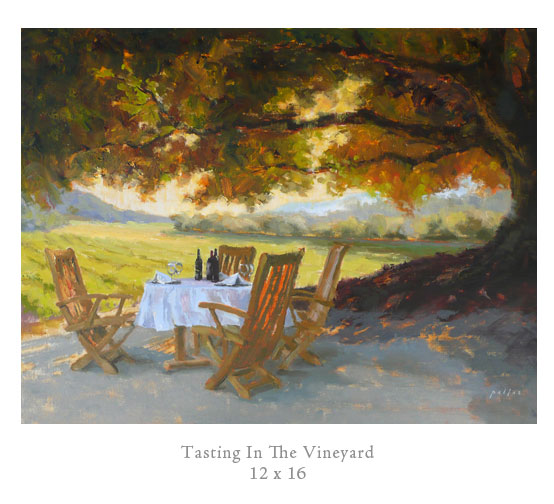 """Tasting in the Vineyard"" by Kristine Pallas"
