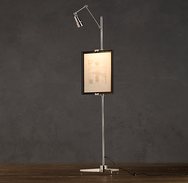 Circa 1970 Lighted Easel by Restoration Hardware