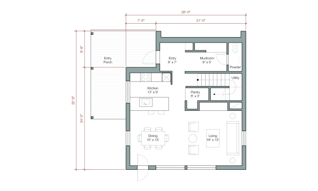 "GOLogic ""GO Home"" 1500 square feet, 2 floor/3 bedroom - Image via: GOlogic.us"