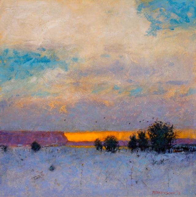 Distant Snowfall by Tom Perkinson