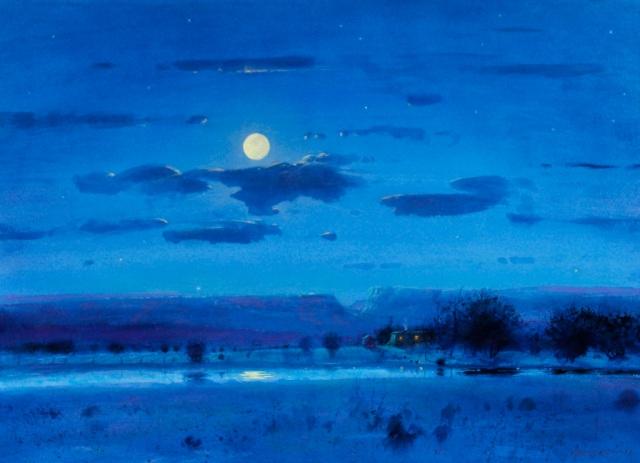 Moonlight, New Mexico by Tom Perkinson