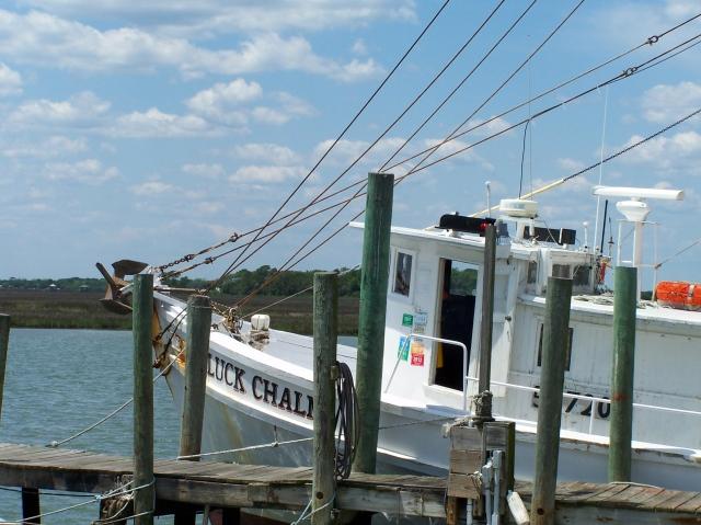 Lucky Chalm at Crosby's Seafood near Folly Beach