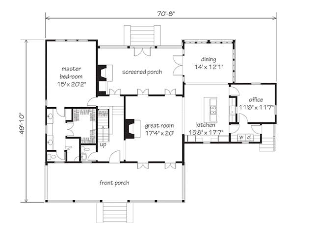 H o u s e p l a n new vintage lowcountry a southern for Low country floor plans