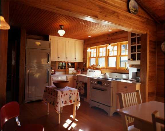 cabin design kitchen