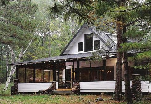 house plan Architectural House Plans Porch Cabin DM 001