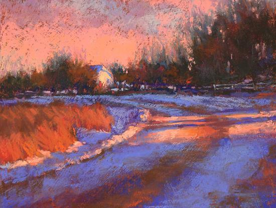 Aspen Road at Sunset by Barbara Jaenicke