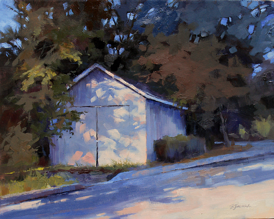 Shadows on the Shed by Barbara Jaenicke