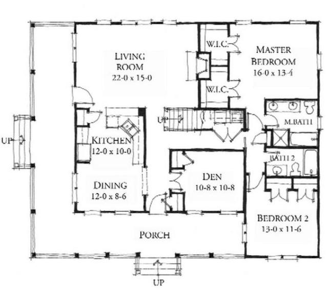 INLET RETREAT  - House plan by Allison Ramsey Architects