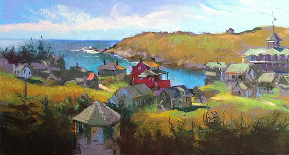 Monhegan from the Cemetery by Judith Carducci
