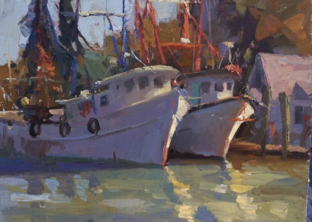 Shem Creek Shrimpers by Katie Dobson Cundiff