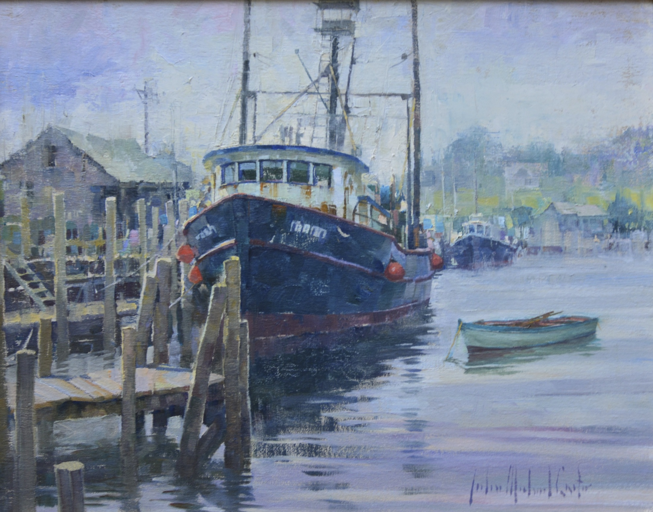 Featured artist john michael carter art walk tonight for Fishing boat painting