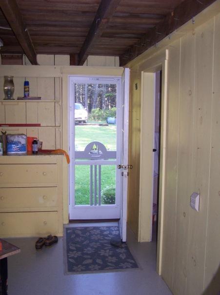Entry door… mudroom...