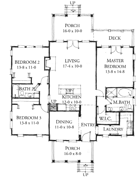 House Plan Red Bluff By Allison Ramsey Architects A R T