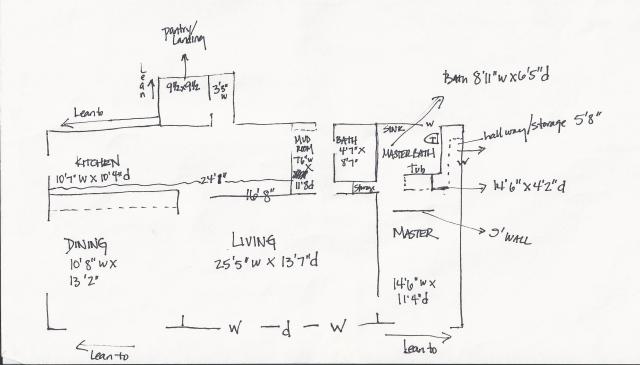 Periwinkle floor plan - first floor