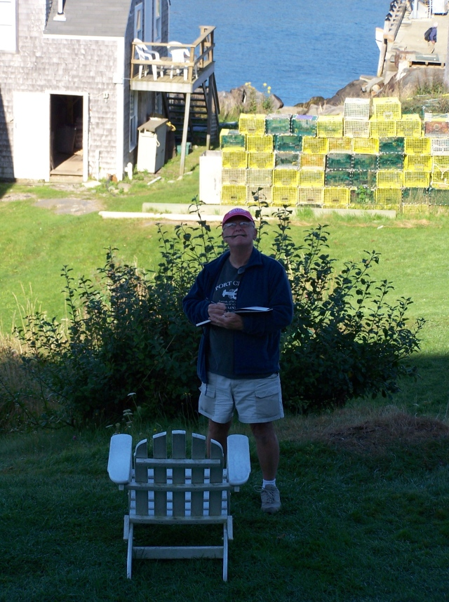 Joe Fidler painting on Monhegan