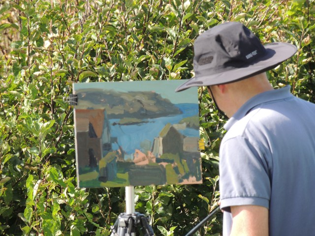 Artist David Kasman on Monhegan Island