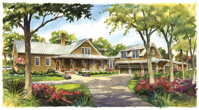 House plan river house sl 1829 a southern living house for River view house plans