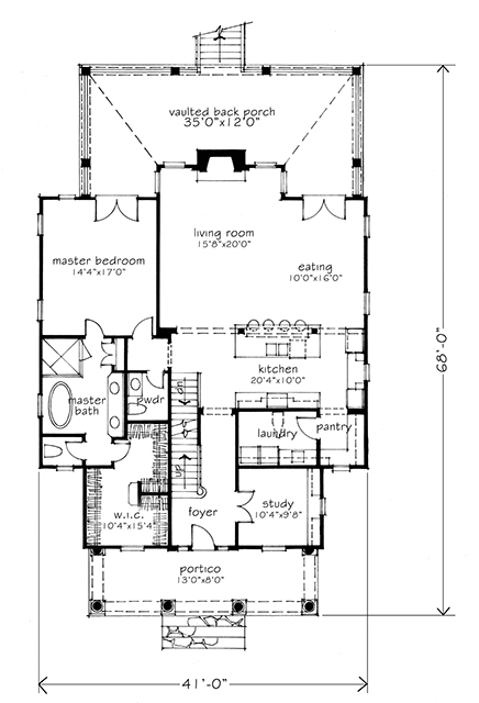 House plan dewy rose sl1842 by southern living house for Four gables house plan