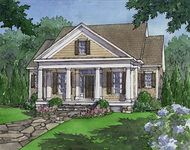 House plan dewy rose sl1842 by southern living house for Southern living house plans