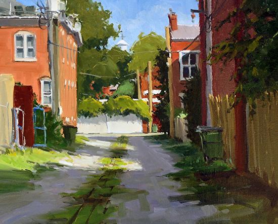 "Church Hill Alley by Greg LaRock 16x20"" Oil"