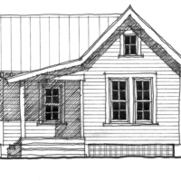 House Plan: The Lafayette - A one bedroom cottage plan!