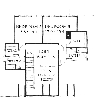 Shadowlawn House Plan - Second Floor