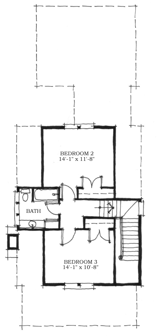 House plan the chechessee river cottage for River cottage house plans