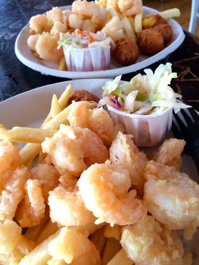 Shrimp at Bowens Island Restaurant