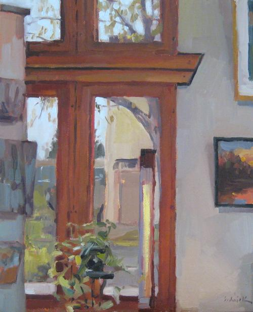 In the Gallery by Sarah Sedwick 8x10 Oil on Canvas