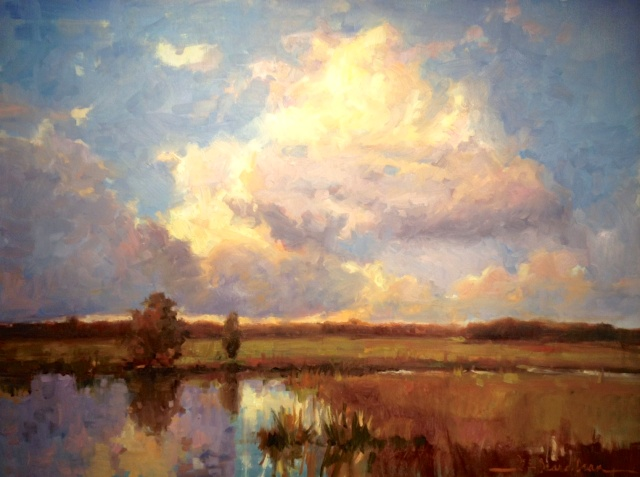 Clouds Over Penny Creek by Dee Beard Dean Available at Galerie on Broad