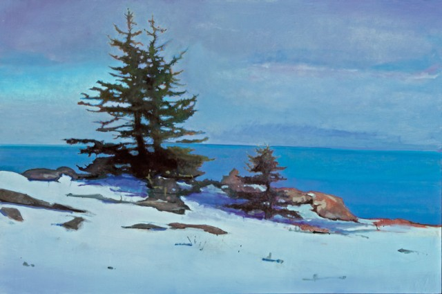 Spruces on Great Head, Mount Desert Island by Robert Pollien