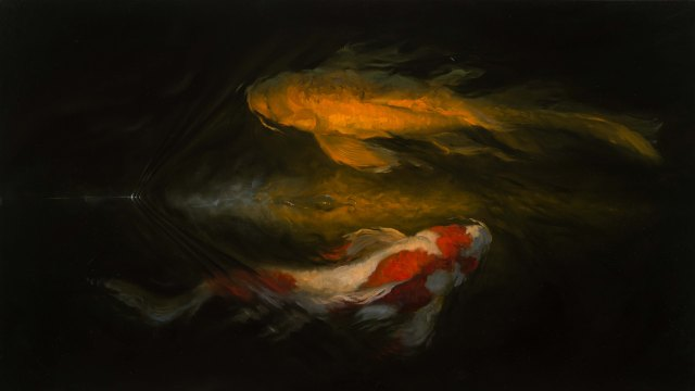 """Drifting by Isaiah Ratterman  17 x 30"""" Oil"""