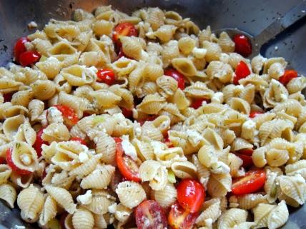 Stir to mix... Add OLIVES! I forgot!
