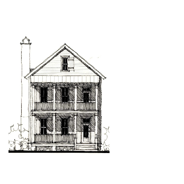 House plan ribaut square by allison ramsey architects - Allison ramsey architects ...