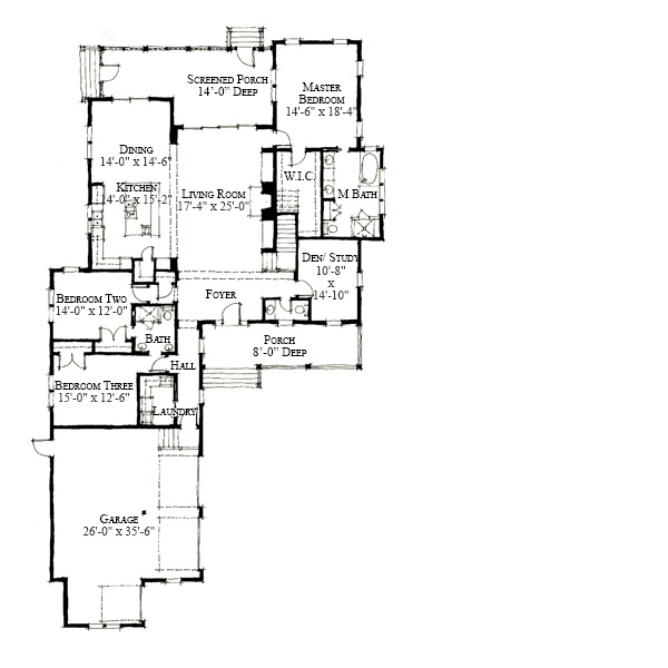 House Plan Snead S Ferry By Allison Ramsey Architects