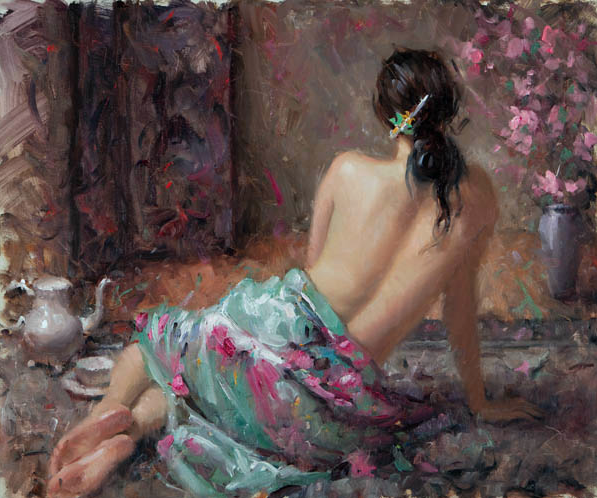 "First Blossoms by Bryce Liston - 20 x 24"" Oil on Linen"