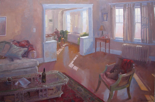 "Home by Charles Newman Oil on Linen 24x36"" - SOLD"