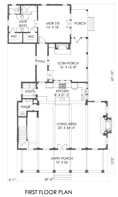 House plan small cottage plan tnh sc 17b by moser design for Eric moser farmhouse plans