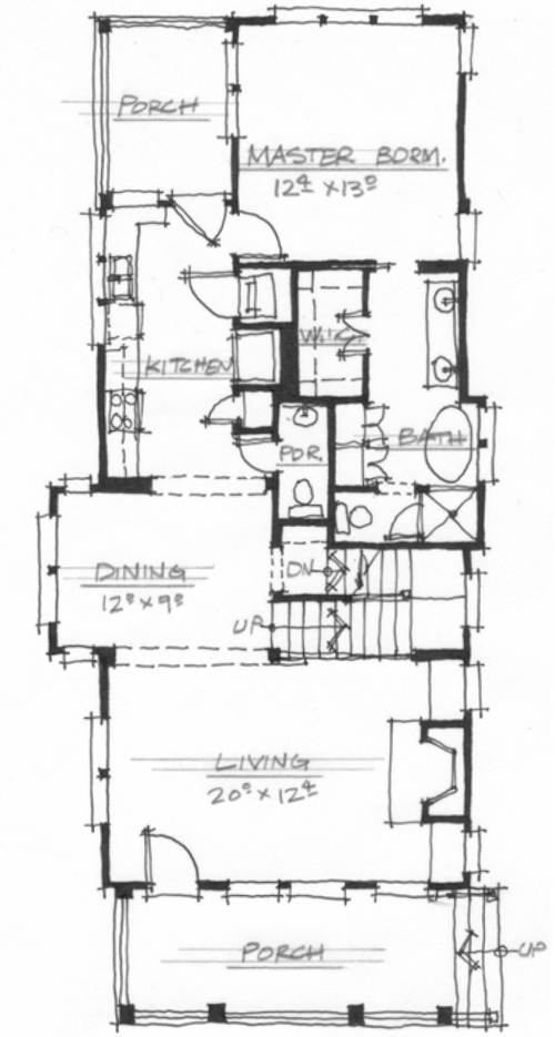 Poet's Cottage (NC0022) by Allison Ramsey Architects! Main Floor