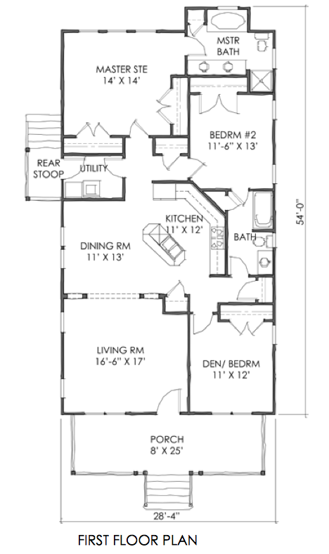House plan tnh b 06a small cottage plan by moser design for Moser design group house plans
