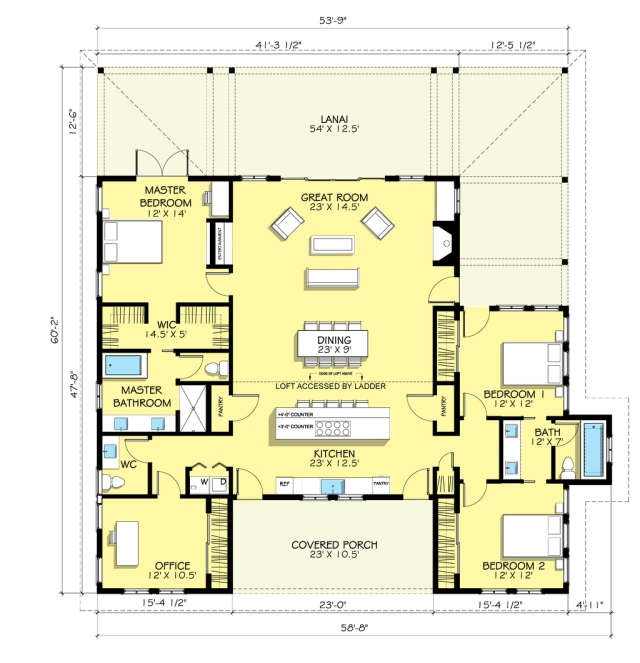A country farmhouse plan (888-7) via Houseplans.com
